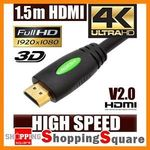 HDMI Cable High Speed with Ethernet, Support 4K, 3D - 1.5m $3.95 2M $4.95 3M $6.95 @ Shopping Square