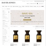 David Jones- Save 10% on a Range of Full-Priced Fragrances