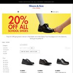 20% off All School Shoes @ Shoes & Sox (combine with AMEX cashback)