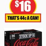 Coke Zero 36x 375ml $16 (44c/Can) @ NQR [Vic]