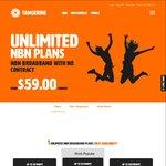 $40 Online NBN Signup Bonus - Tangerine Unlimited NBN Deals - No Contract - No Setup - No Restrictions