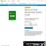 [XB1] Xbox Live Gold 12 Months ~AUD $46.32 ($47.97 NZD) @ Microsoft Store New Zealand