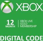 $59.99 - 12 Month Xbox Live Gold Digital Download @ OzGameShop
