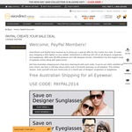 10% Off Site wide and Free Shipping @ VisionDirect.com.au (Sunglasses, Eyeglasses, Contact lenses) WITH PAYPAL