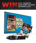 """Win an LG 55"""" UHD Smart LED LCD TV & Family Guy DVD Bundle Worth $2,993 or Other Prizes from Jack Link's"""