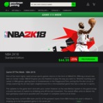 [PC] NBA 2K18 Digital key - GreenManGaming $44.99USD [$55.98AUD] Region Free