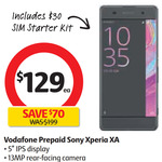 Sony Xperia XA Vodafone Prepaid $129 (Includes $30 Starter Pack) @ Coles Start 4 Oct