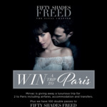 Win a Trip for 2 to Paris or 1 of 100 Double Passes to Fifty Shades Freed from Mirvac [ACT, NSW, VIC & QLD]