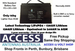120AH 12V Lithium LiFePO4-Deep Cycle Battery with BMS - ACCESS 12 VOLT SHOP (Price @ $999) - ($49 Shipping)