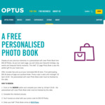 Free Personalised Big W 6x8'' 22 Page Photo Book for Optus Perks Members