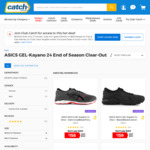 24 Hour ASICS GEL-Kayano 24 $158: End of Season Clearance (Club Catch) @ Catch