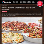 [NSW, Cremorne] 50% off Premium/Traditional Pizzas & Selected Sides @ Domino's