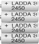 LADDA Rechargeable 4x AA/AAA (2450mAh/900mAh, LSD) $7.99 (Was $9.99) @ IKEA (Free Family Membership Required)