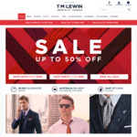TM Lewin Sale up to 50% off (5 Shirts for $199, Suits from $299) Free Shipping over $120
