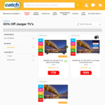 """30% off Jaeger TVs: 65"""" 4K with Chromecast Ultra $741.84, 75"""" 4K TV $1053.54 Delivered @ Catch"""