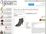 Miss Anne Black Studded High Heel Shoes Reduced from $99.95 NOW $39.95 + $8.95 Shipping
