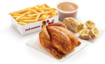 Summer Feast Family Meal: Whole Chicken, Family Chips, Gravy & Garlic Bread $19.95 @ Red Rooster