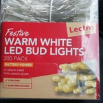 [VIC] Battery Power Festive LED Bud Lights 200 Pack $2 (Was $6) @ Bunnings Coburg