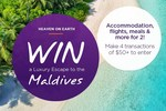 Win a Luxury Escape to the Maldives for Two People Valued at $22,000 @ Cashrewards