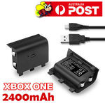2400mAh Rechargeable Battery Pack + USB Charger Cable for Xbox One Controller $1.35 Delivered @ Aus_firefly eBay