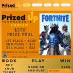 Win 1 of 3 PayPal Cash Prizes from Prized Up Tournaments