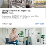 Flat $25 Cab Fare From Airport for Up to 20KM, Excl. Tolls | 30% Off Rides in Sydney (Max $8 Discount, ends Mar 3) @ Ola Cabs