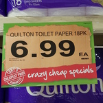 [WA] Quilton 3 Ply Toilet Paper 18 Pack $6.99 @ Spudshed (In-Store Only)