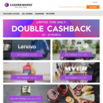 Double Cashback or Better at 29 Stores @ Cashrewards (Rebel, Dell, Myer, Wotif, Dan's, HP, M&S, IHG, Lenovo, CW, Groupon + More)