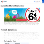 Caltex Easter Fuel Saver Promotion Save 6c Next Refill*