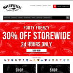 30% off Sitewide (Excludes Personalized, Precision Leather, SDNR and Sherrin KB) @ Sherrin