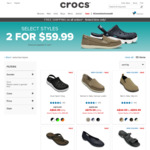 Click Frenzy: Get 2 pairs for $59.99 @ Crocs Australia