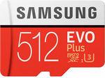 [eBay Plus] Samsung Evo Plus 512GB Micro SD Card SDXC Class 10 100MB/S $135.15 Delivered @ PCBYTE eBay