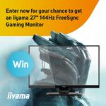 "Win an iiyama 27"" 144Hz FreeSync FHD Gaming Monitor from Scan"