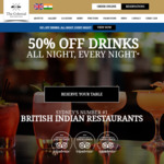 [NSW] 50% off Drinks, All Night, Every Night at The Colonial British Indian Cuisine [Darlinghurst and Neutral Bay] Restaurants