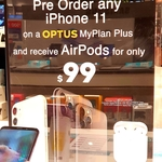 [NSW] AirPods $99 and $500 Discount with any iPhone 11 on Optus 24-Month $65 Plan @ Harvey Norman Auburn