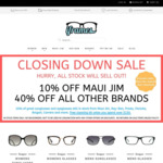 Closing Down Sale 40% off All Brand Name Sunglasses and Glasses (except Maui Jim 10% off) Delivered @ iFrames