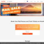 10% off ALL Rail Passes (Including JR Pass) and Train Tickets @ Klook
