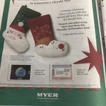 [VIC] Free GPS Stocking (Valued at $34.95) with Purchase of Herald Sun $1.90 @ Myer