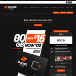 Boost Prepaid Sim | 12 Months Expiry | 80GB Data - $135 Delivered @ Boost Mobile (New Customers)