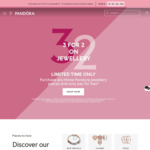 3 for 2 Jewellery + $8.95 Delivery ($0 with $120 Spend/ in-Store) @ Pandora
