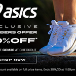 30% Off Full Price Items eg. GEL-Kayano 26 $182 Delivered @ ASICS