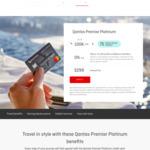 Qantas Premier Platinum Mastercard, $299 Annual Fee, 100k Qantas Points, 75 Status Credits, 2 Qantas Lounge Passes
