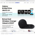 Free Dual Wireless Charger Valued at $149 When You Purchase a Galaxy S20 Series Starting from $1349 @ Samsung