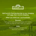 Free Kathmandu Summit Club Membership (Originally $10) - Free $20 Welcome and Birthday Award (No Purchase Required)