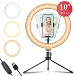 "Apexel 10"" LED Ring Light with Adjustable Tripod $36.78 Shipped (20% off) @ Aipai Optic via Amazon AU"