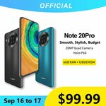 Cubot Note 20 Pro NFC 6GB+128GB 6.5 Inch 4200mAh Smartphone US$109.99 (A$152.82) @ Cubot via Aliexpress