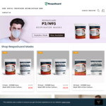 Australian Made P2 Disposable Face Mask - 34% off 10 Pack + Delivery @ Respa Guard