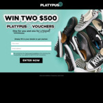 Win Two $500 Vouchers from Platypus