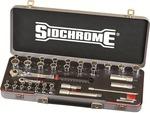 "Sidchrome SCMT19751-39 Pce Socket Set 1/4&1/2""Sq Drive-Metric&A/F $59 + $12.50 Freight @ Blackwoods"