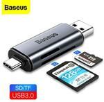 Baseus Type C Card Reader USB 3.0 2 in 1 SD/TF Card Adapter A$10.99 Delivered @ eSkybird
